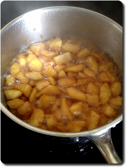 pommes en train de carameliser