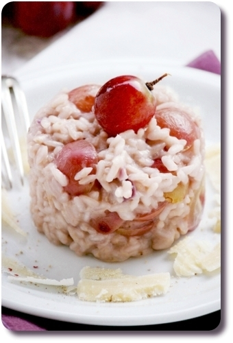 risotto au raisin rouge