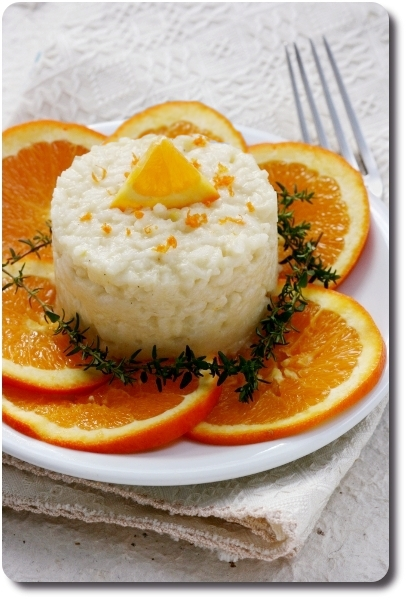 Risotto au topinambour et à l'orange